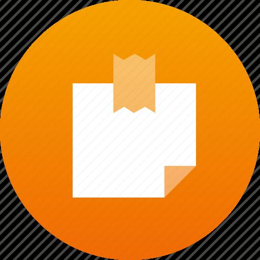 note, sticker icon