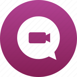 bubble, camera, chat, comment, message, messaging, video icon
