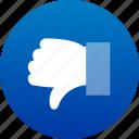 dislike, hand, no, thumb down, vote, voting icon