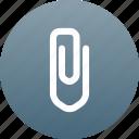attach, paper clip icon