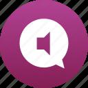 audio, bubble, chat, comment, message, messaging, music, sound