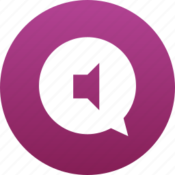 audio, bubble, chat, comment, message, messaging, music, sound icon