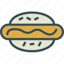 dogbun, drink, food, grocery, hot, kitchen, restaurant icon