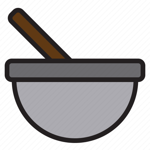 accessories, kitchen, mortar, tools icon
