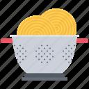 chef, colander, cook, cooking, kitchen, pasta
