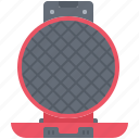chef, cook, cooking, iron, kitchen, waffle icon