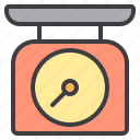 cooking, food, home, kitchen, scale icon