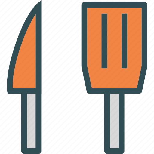 food, grocery, kitchen, knife, pallet, restaurant, tool icon