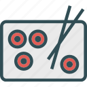 dish, drink, food, grocery, kitchen, restaurant, sushi icon