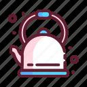 appliance, kettle, kitchen, pot, teapot