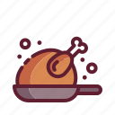 chicken, food, meal, pan, turkey
