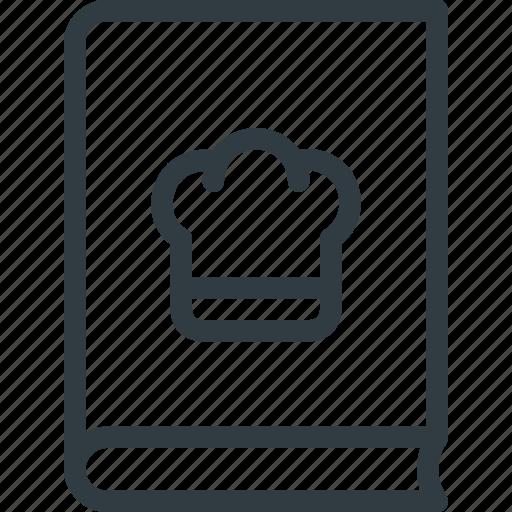 book, coock, cookbook, kitchen icon