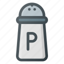 caster, kitchen, pepper, pot icon