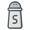 kitchen, pot, salt icon