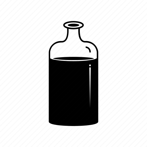 bottle, container, drug, glass, hospital, medicine, poison icon