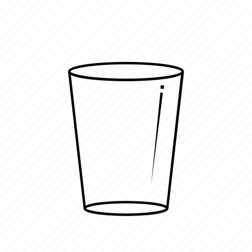 Clean, clear, cup, drink, empty, glass, plain icon | Icon ...