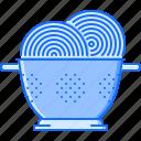 chef, colander, cook, cooking, kitchen, pasta icon