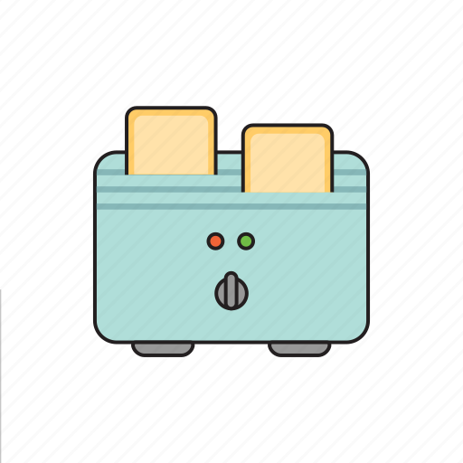 breakfast, cooking, dishes, food, kitchen, toaster, toasts icon