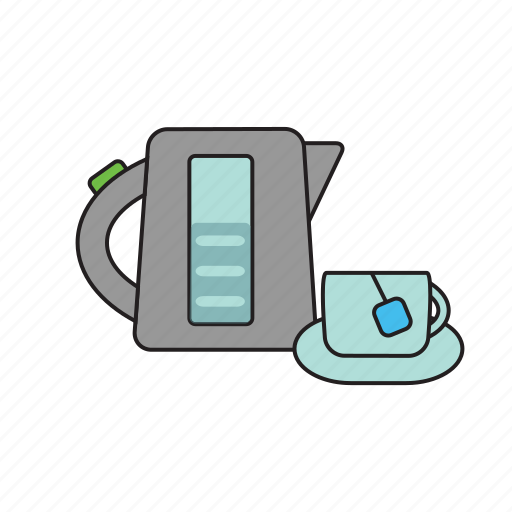 cooking, cup, dishes, food, kettle, kitchen, tea icon