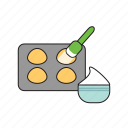 baking, baking dish, cooking, cupcakes, dishes, food, kitchen icon