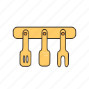 cooking, cutlery, dishes, food, kitchen, kitchen spatula, skimmer icon