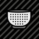 food strainer, colander, kitchen sieve, strainer, food drainer icon