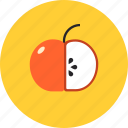 apple, diet, food, fresh, fruit, healthy, vegan, vegeterian icon