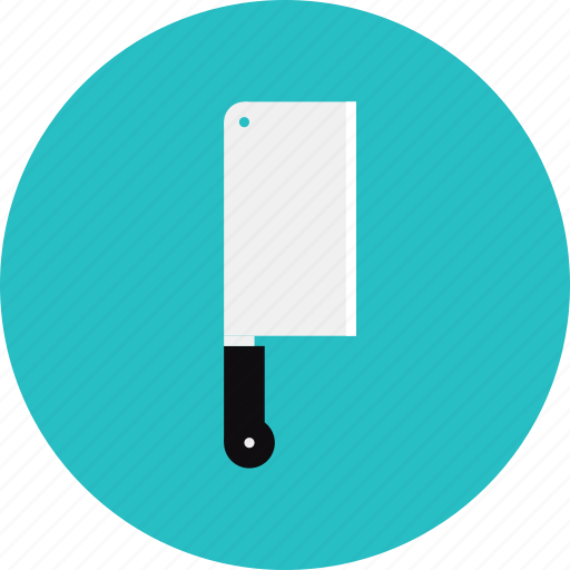 butcher, chef, cleaver, cooking, kitchenware, knife, meat, utensil icon