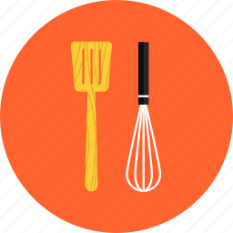 accessories, cooking, equipment, household, kitcheware, mixer, spatula, utensil, whisk icon