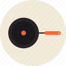 cooking, cookware, equipment, fry, frying, hot, kitchenware, pan, utensil icon
