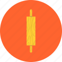 dough, kitchenware, pin, roll, roller, rolling, utensil icon