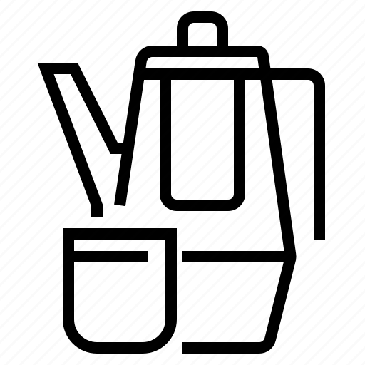 cookware, drink, kettle, kitchen, tea, teapot icon