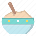 bowl, cooking, kitchen, meal, noodles, salad, soup icon