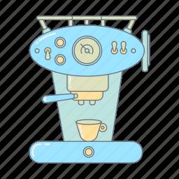 breakfast, coffee, espresso, espresso machine, kitchen, kitchen appliance, morning icon