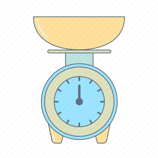 cook, kitchen, kitchen appliances, kitchen scales, kitchenware, scales icon