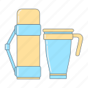 coffee, cup, hot drink, kitchen, tea, thermos, thermos cup icon
