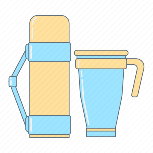 Coffee, cup, hot drink, kitchen, tea, thermos, thermos cup icon - Download on Iconfinder