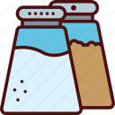 dressing, food, pepper, salt, shaker icon