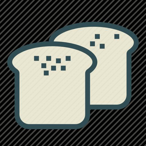bread, food, slice icon