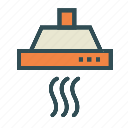 chimney, cooker, exhaust, filter, hood icon