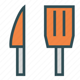 knife, pallet, tool, turner icon