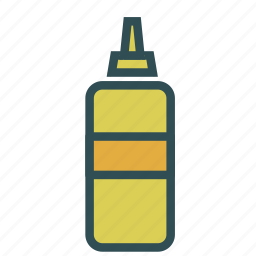 bottle, container, mustard icon