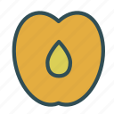food, fruit, healthy, peach, sweet icon