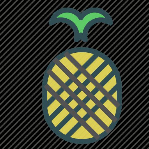 food, fruit, healthy, pineapple, sweet icon
