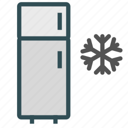 freezer, fridge, refrigerator, snowflake icon