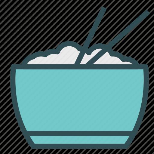bowl, chopstick, rice icon