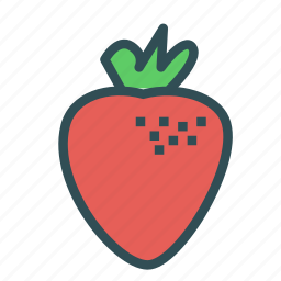food, fruit, healthy, strawberries icon