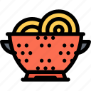 cafe, colander, fast food, food, kitchen, restaurant icon