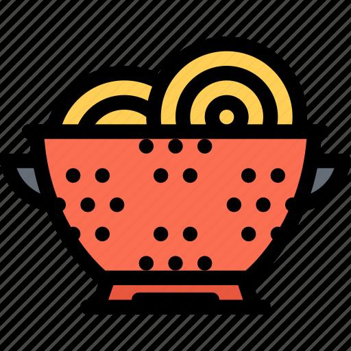 cafe, colander, fast food, food, kitchen, restaurant icon