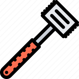 cafe, fast food, food, hammer, kitchen, meat, restaurant icon
